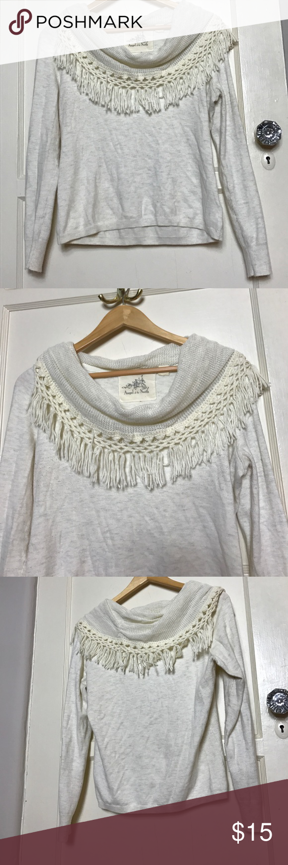 Cream Anthropologie cowl neck sweater | Cowl neck, Anthropologie ...