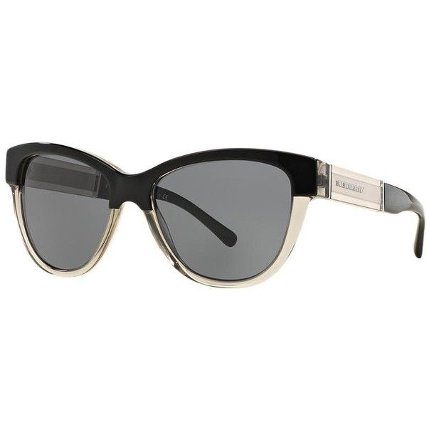 aaead0c70faf Burberry Be4206 55 Multicolor Cat Sunglasses featuring polyvore, women's  fashion, accessories, eyewear, sunglasses, wide sunglasses, cat-eye glasses,  ...