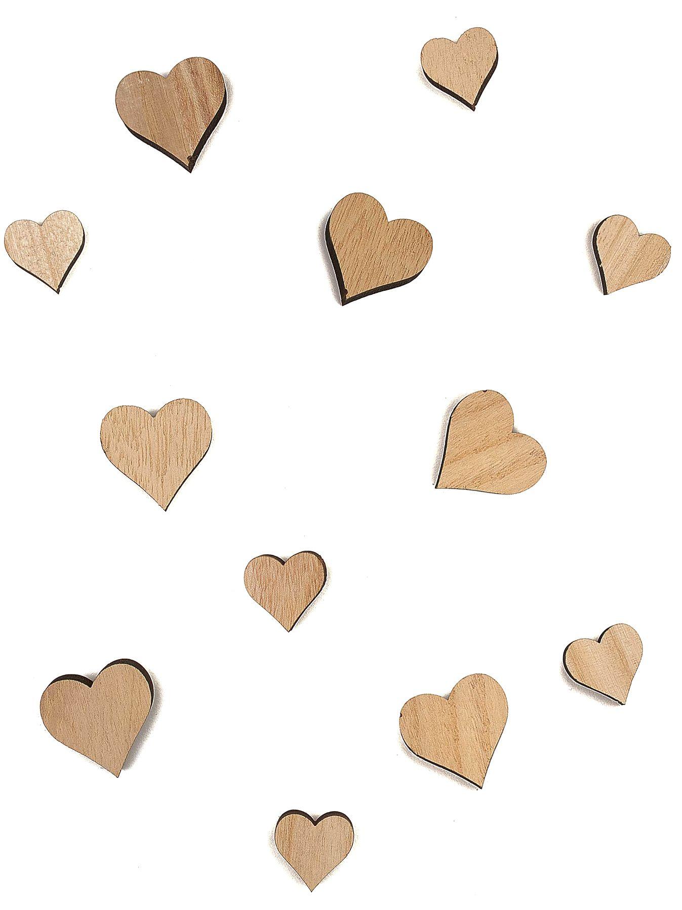 12 cuori di legno su VegaooParty, negozio di articoli per ...