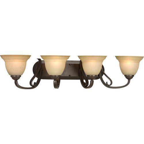 Photo of Progress Lighting Torino 4 Light Bath Light – Forged Bronze P2884-77