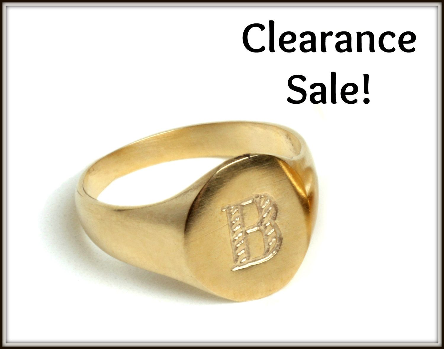 Size US 4 Handmade French Woman Imprint Seal Ring made from 14K Gold Plated Brass Coin Signet Ring Unisex Pinky Ring
