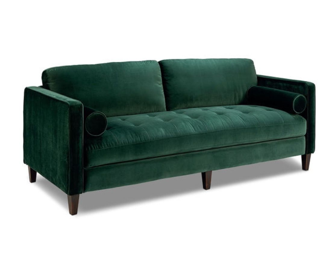 Great Green Velvet Sofa  Images