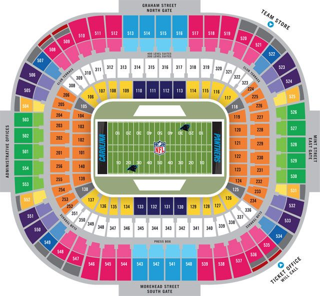 Carolina Panthers Seating Chart Favorite Places Spaces