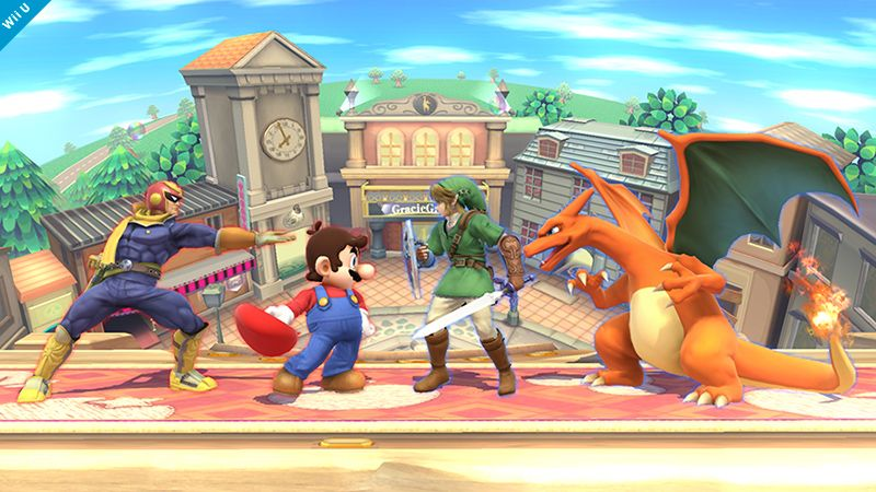 In the 3DS version, your fighter gets outlined by your team color. So, how does this work in the Wii U version? Check out this screenshot. In this picture, the outlines may seem faint, but the color intensity is consistent. This means that the farther away and smaller your fighter appears on the screen, the clearer the colors will look.