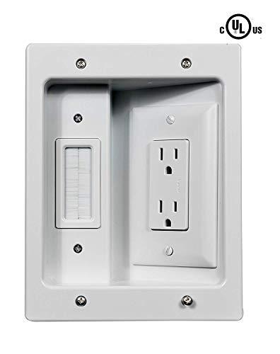onq / legrand ht2102whv1 flat panel tv connection kit | cable management  wall, flat panel tv, cable management  pinterest