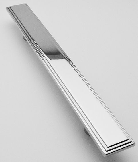 Art Deco Pull Handle 600mm Overall X 60mm Wide
