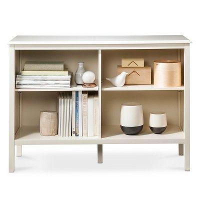 Windham Horizontal Bookcase Shell White Threshold