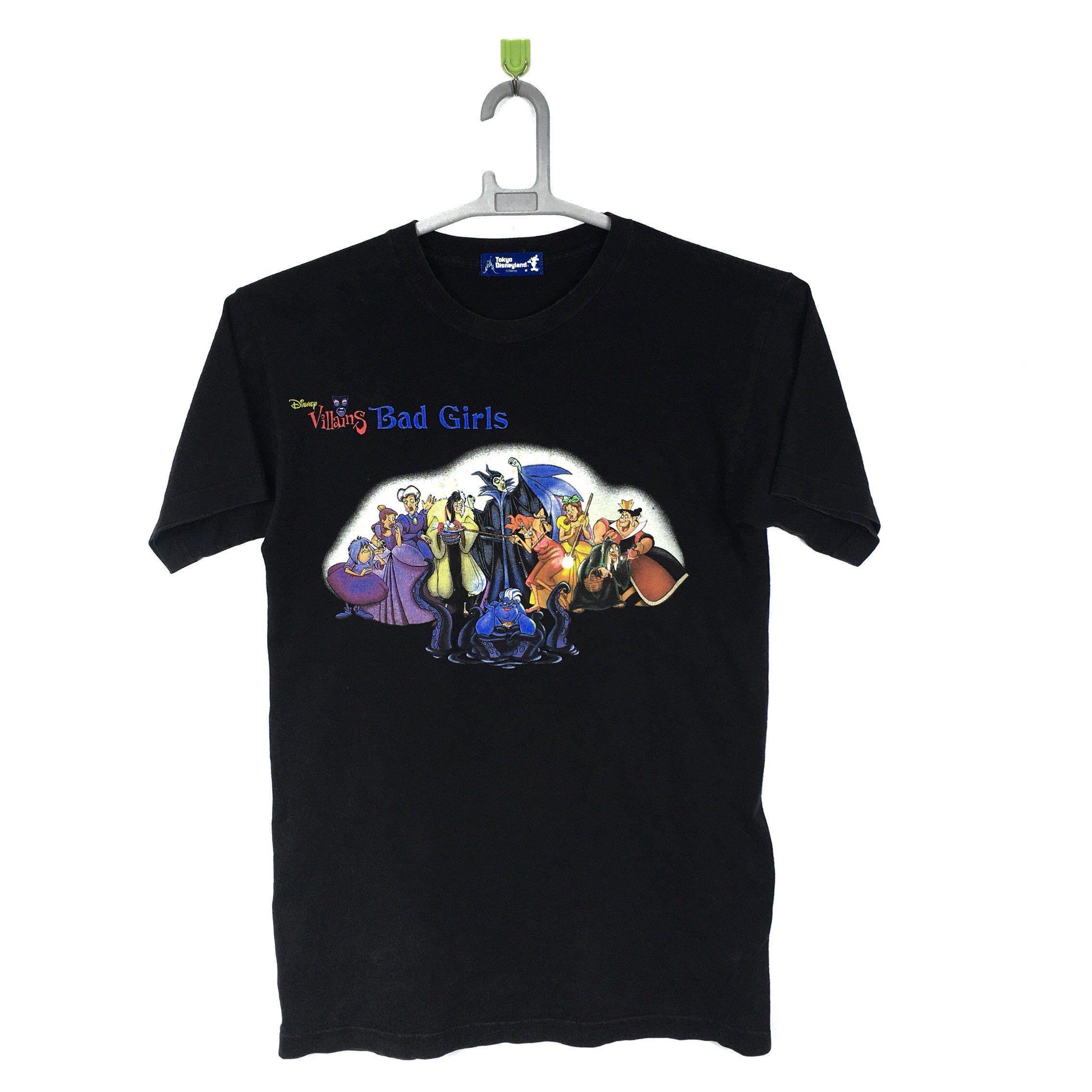 Vintage Disney Villains Bad Girls Character Cartoon T Shirt S Etsy Cartoon T Shirts Vintage Disney T Shirts S