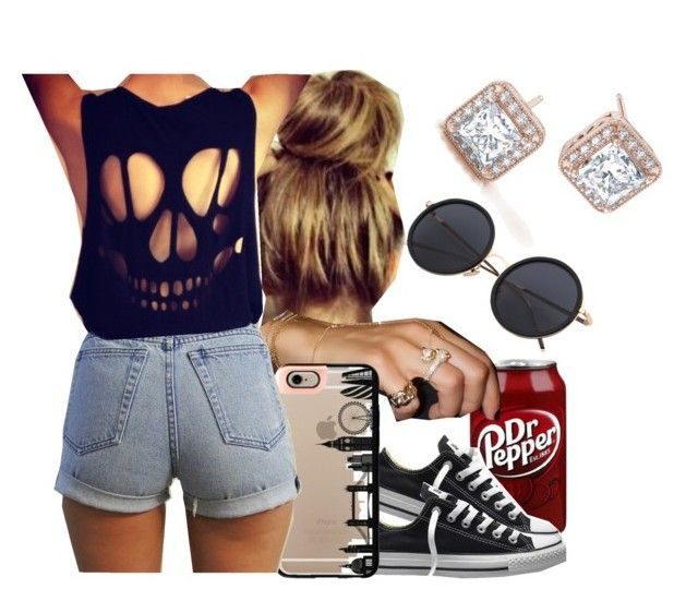"""9-2-16"" by janay1206 ❤ liked on Polyvore featuring Converse and Casetify"
