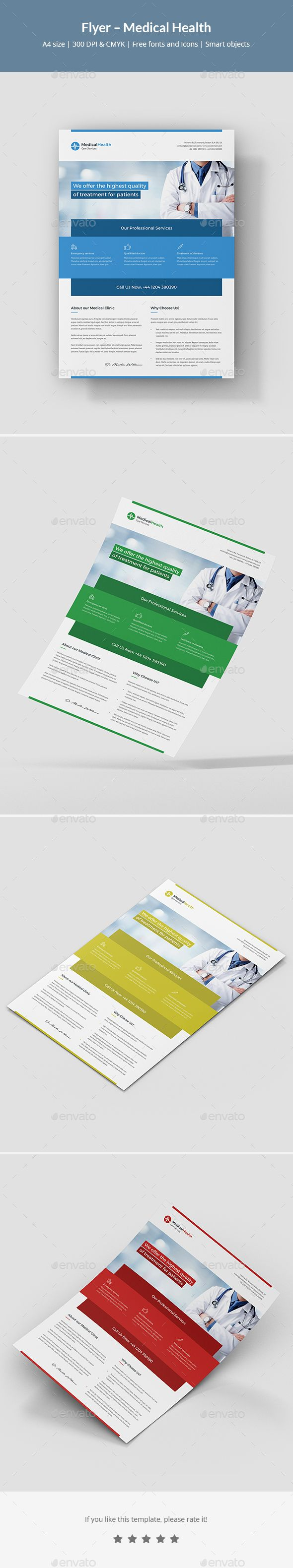 Medical Health Flyer Design Template Psd Flyer Templates