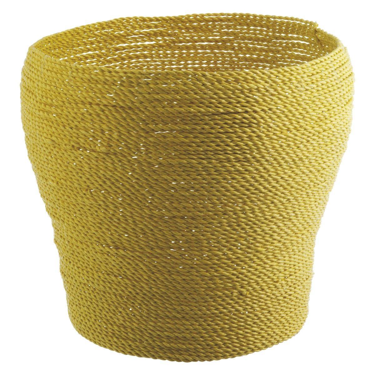 MORELL Grey Woven Plastic Storage Basket