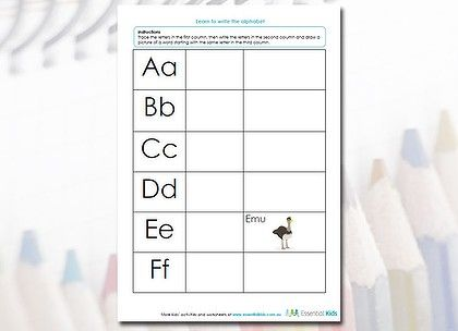 Number Names Worksheets : learn how to write alphabet Learn How To ...