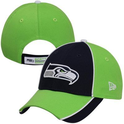 New Era Seattle Seahawks Fizzleflop 9FORTY Adjustable Hat - College  Navy Neon Green b5b7ab614