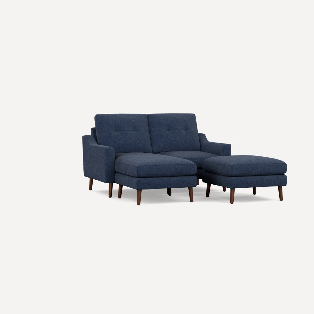 Remarkable Nomad Loveseat With Chaise Couch Fabric Couch Blue Fabric Squirreltailoven Fun Painted Chair Ideas Images Squirreltailovenorg