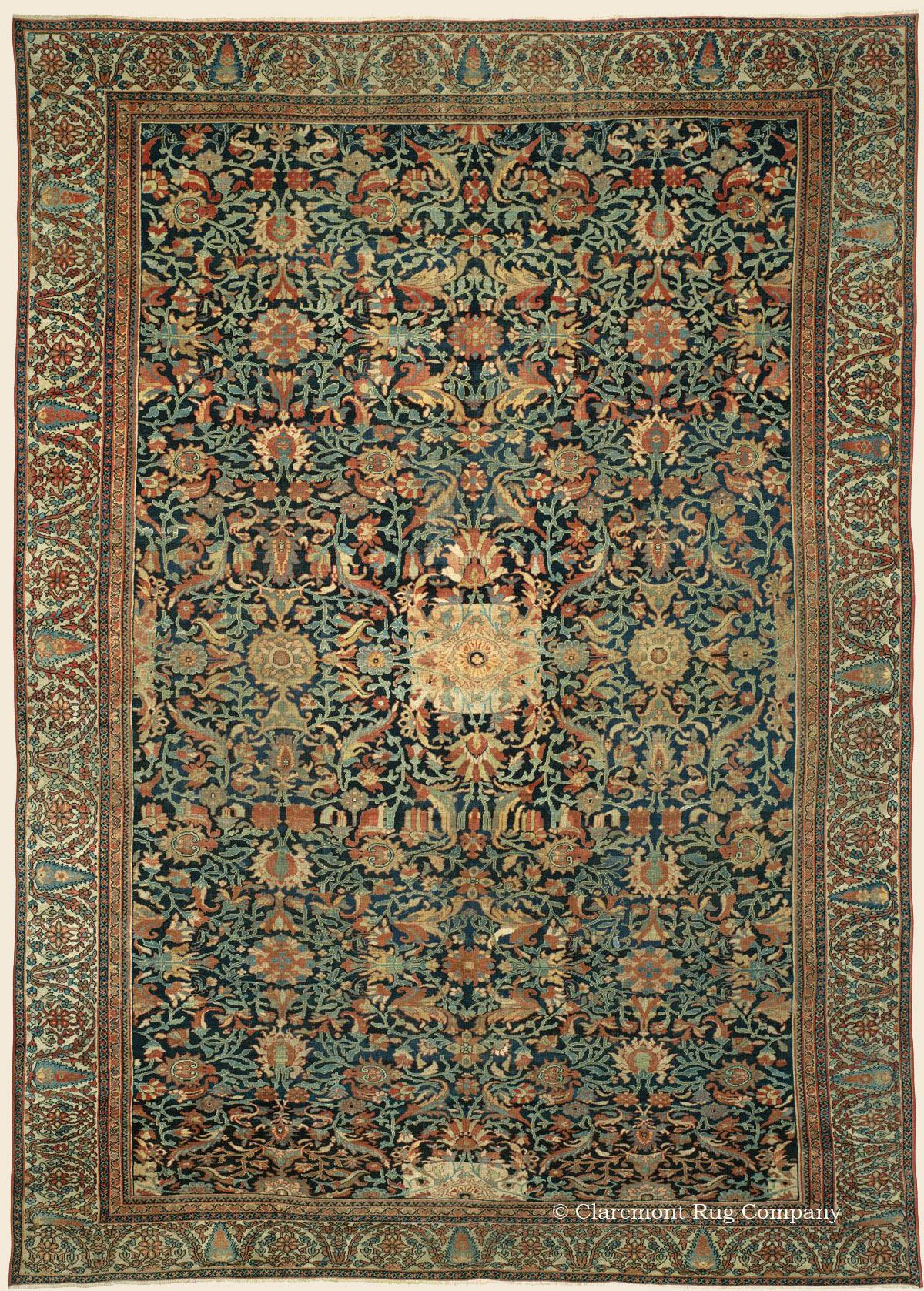 Ziegler Sultanabad 12 8 X 17 0 Circa 1875 West Central Persian Antique Rug Claremont Rug Company Click To Rugs Rugs On Carpet Claremont Rug Company