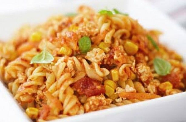 Pasta Spicy Chicken And Sweetcorn Bolognese