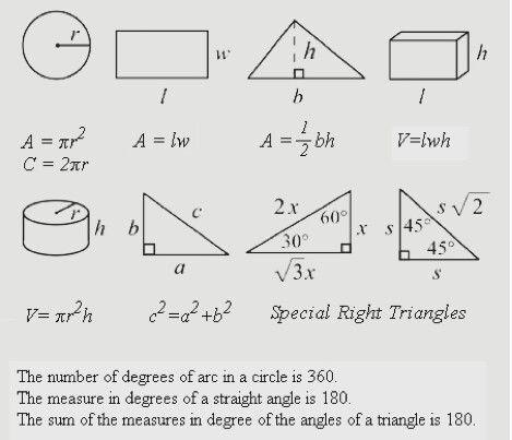 Basic math formulas   Math formulas   Sat math, Basic math