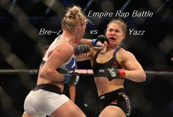 Im Calling The Rap Battle On Empire Tonight With Bre Z Vs Yazz This Pic Says It All Hahaha Mma Women Ronda Rousey Rhonda Rousey