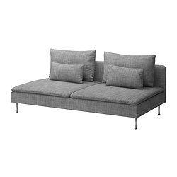 SÖDERHAMN Bettsofaelement - Isunda grau - IKEA