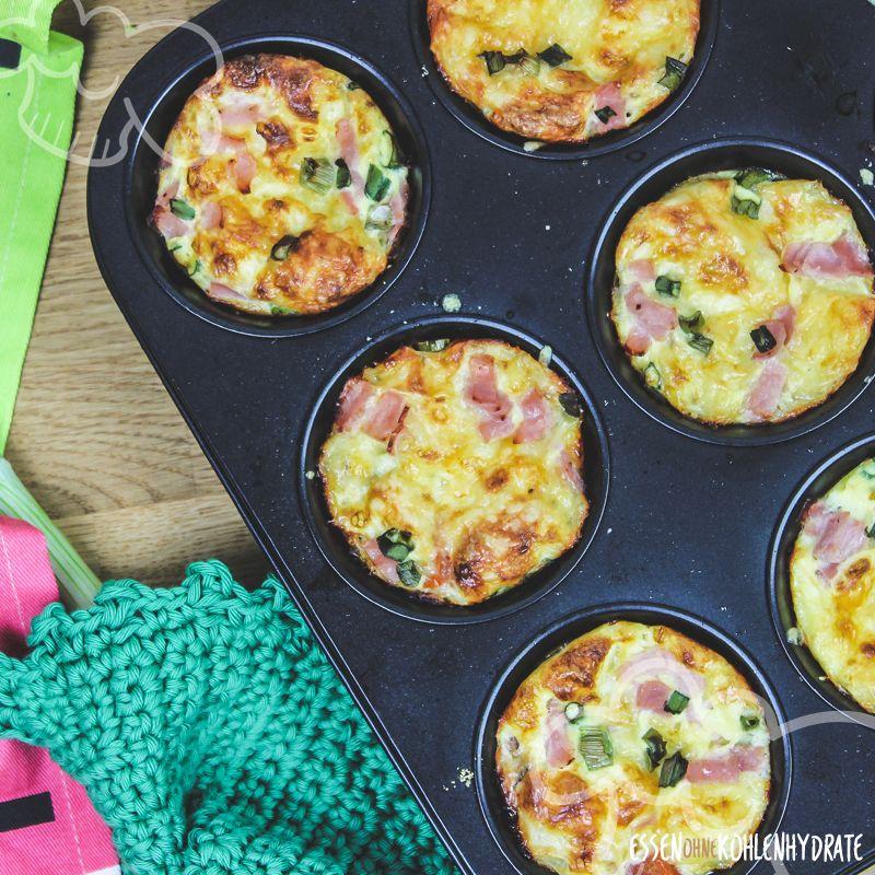 Leckere gefüllte Eiermuffins - Essen ohne Kohlenhydrate