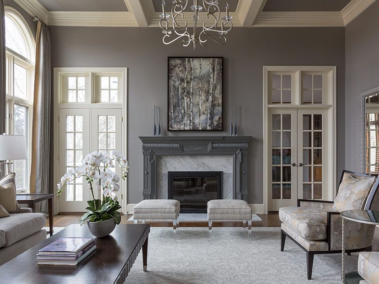 Living Room In Overland Park Family Living Rooms Grey Decor Interior Design
