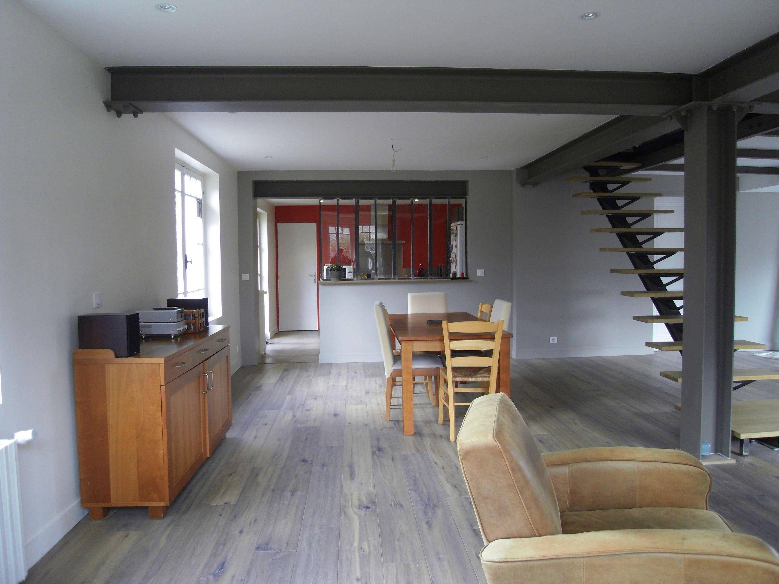Home et vous r novation d une maison de 1925 pessac travaux pinterest - Poutre ipn apparente ...