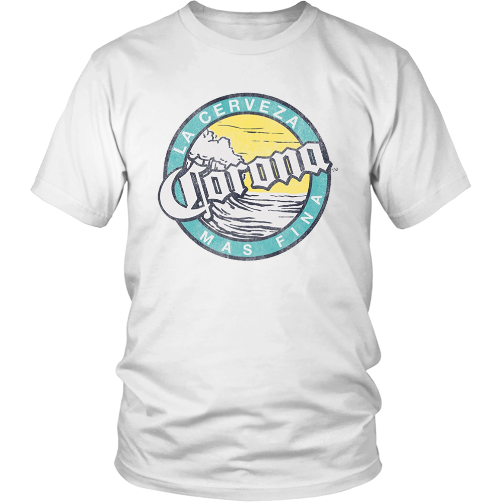 Officially Licensed Corona Logo White Short Sleeve Adult T