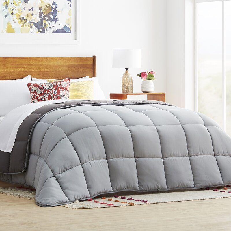 All Season Microfiber Down Alternative Comforter In 2021 Oversized King Comforter Comforters White Down Comforter Oversized king down alternative comforter