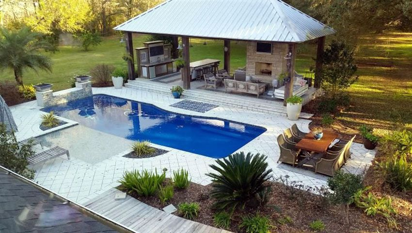 backyard designs with pool and outdoor kitchen. 25 Exotic Pool Cabana Ideas  Design Decor Pictures