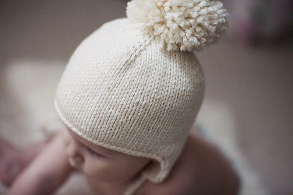 Free Baby Pompom Hat Pattern Knitting Pinterest Flap Hat Free
