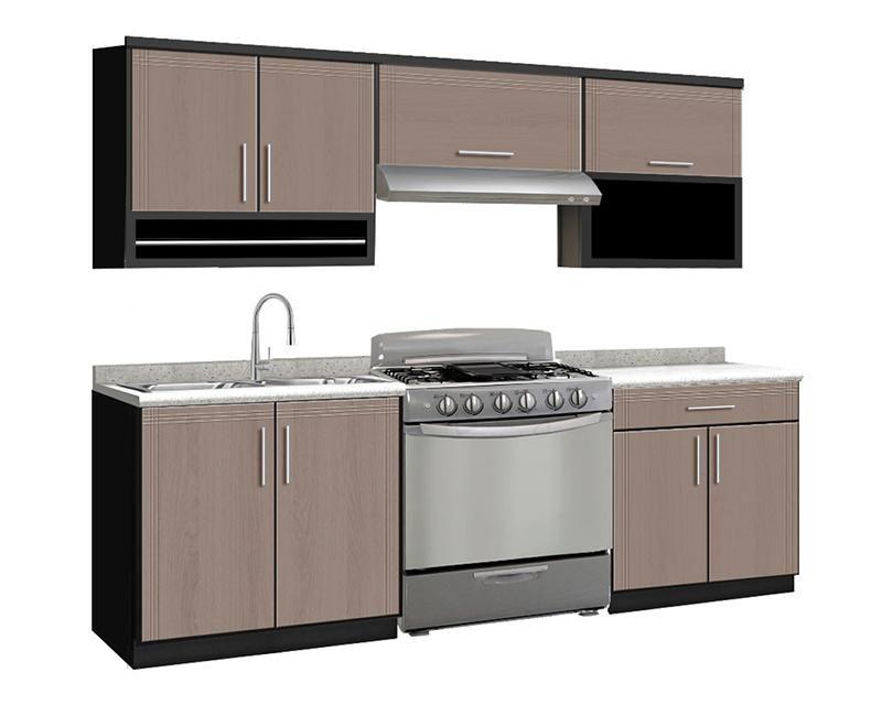 Cocina Valeria 240 Cm Con 9 Puertas 3409873 Coppel En 2020 Muebles De Cocina Comprar Cocina Muebles
