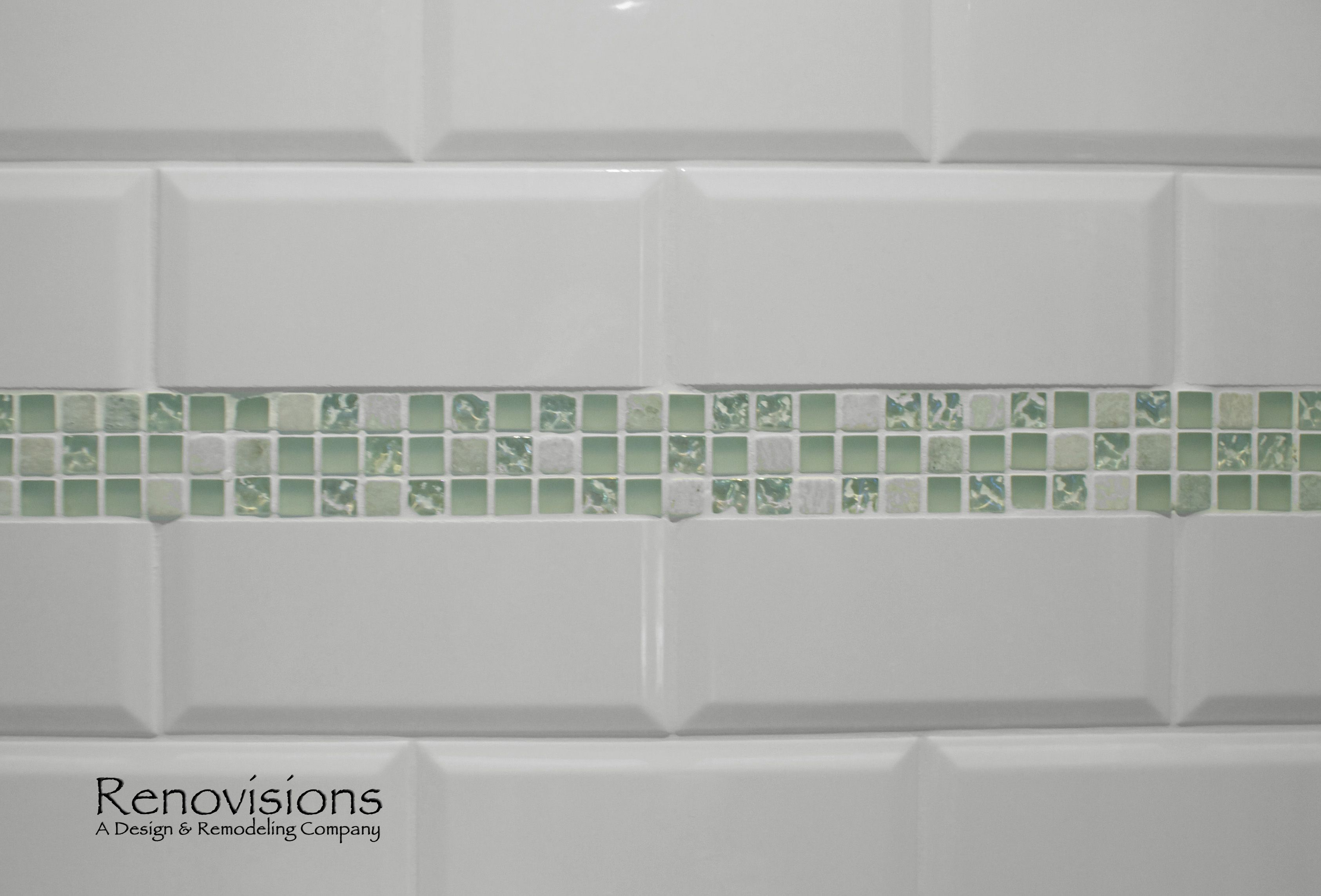 Bathroom remodel by renovisions beveled subway tile decorative bathroom remodel by renovisions beveled subway tile decorative sea glass tile border dailygadgetfo Images