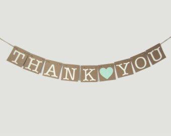 Thank You Garland - Thank You Banner - Wedding Decoration - Wedding Decorations - Thank You Prop - Photo Prop - Thank You - Mint Banner
