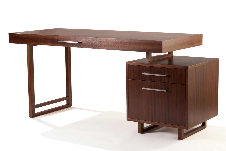 creative brown contemporary computer desk idea for home stylish