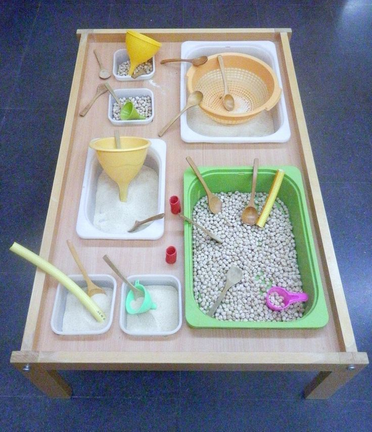 Tablett Experimente 2-3 Jahre - sensorische Spiels... - #Experimente #Jahre #sen...