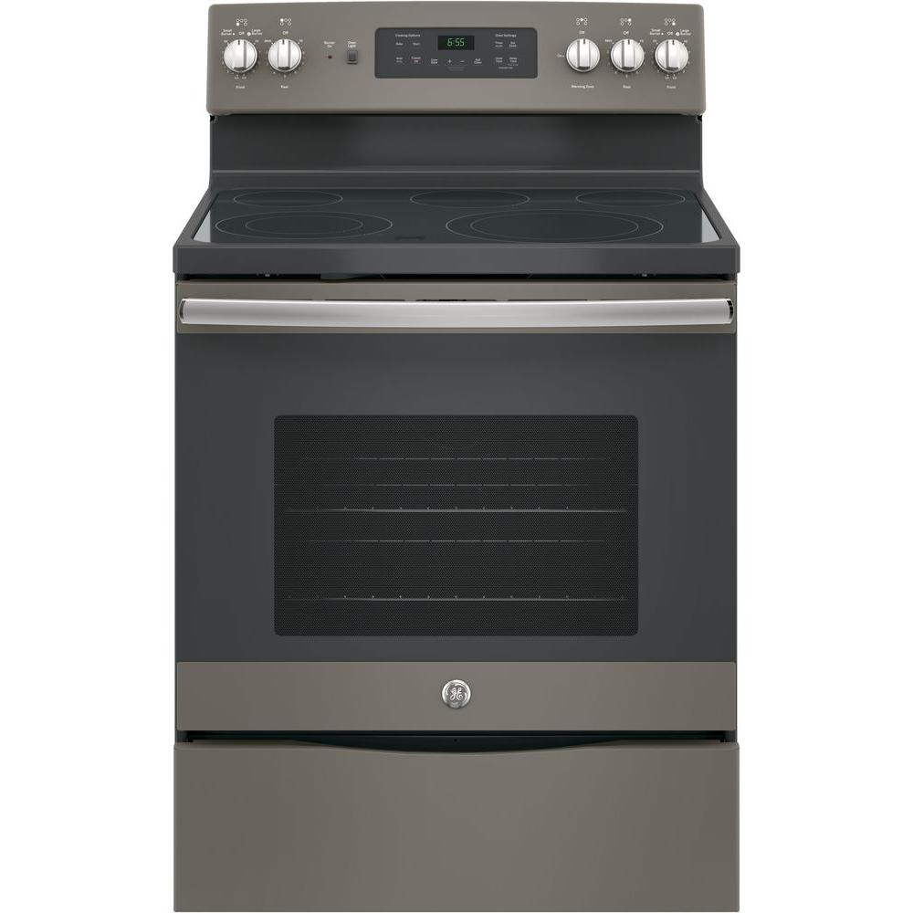 Ge 30 In 5 3 Cu Ft Free Standing Electric Self Clean Range With