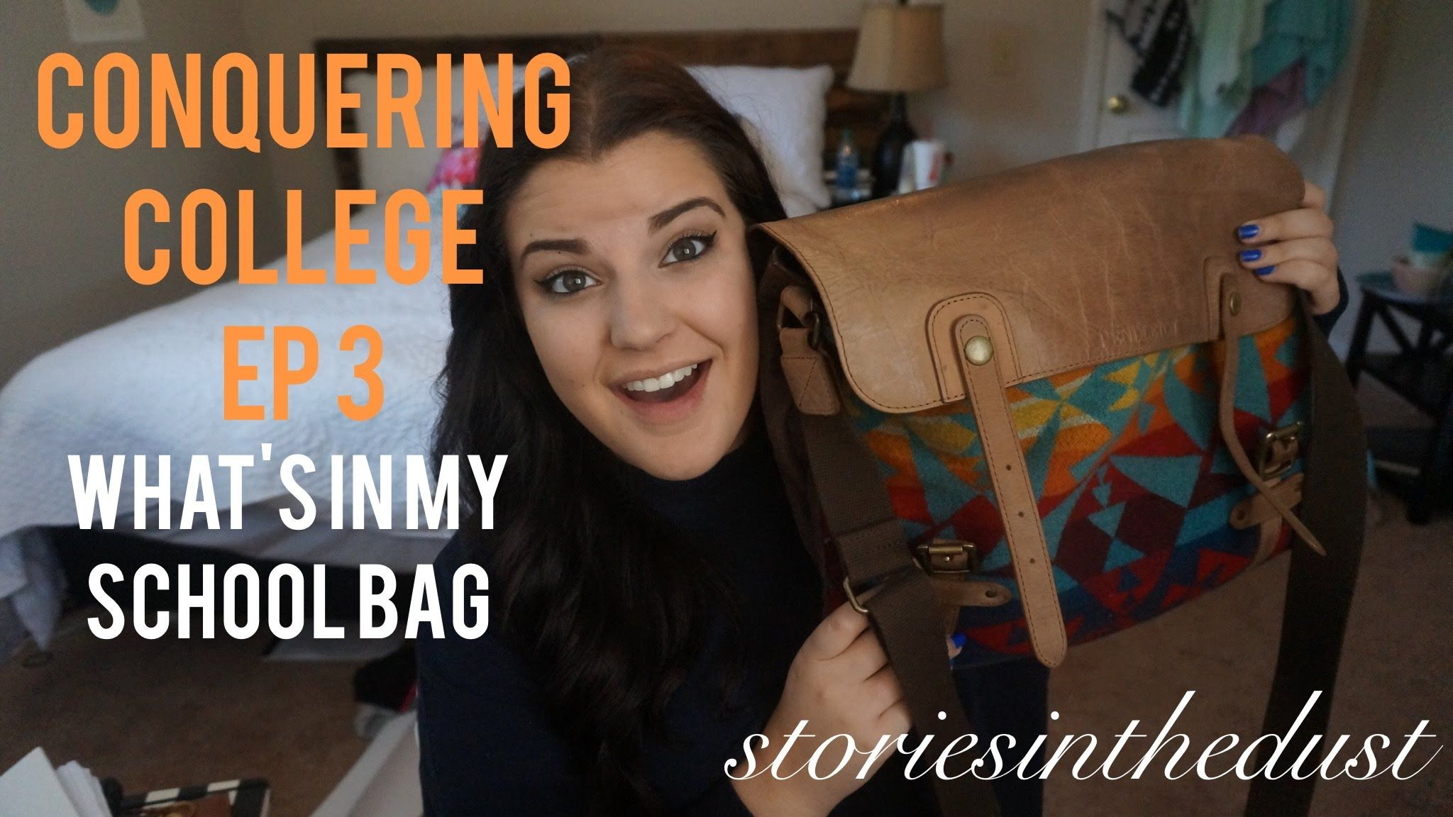 CONQUERING COLLEGE EP 3: What's In My School Bag | storiesinthedust