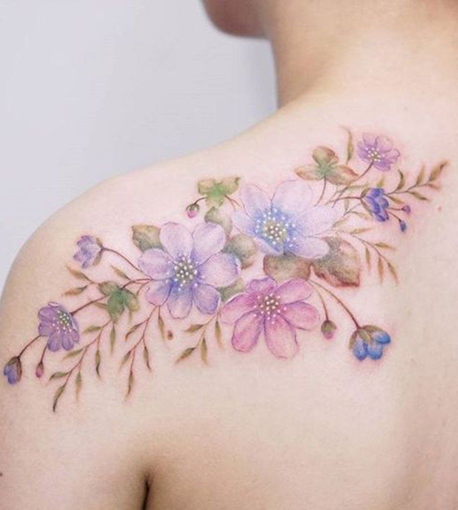 30 Delicate Flower Tattoo Ideas Watercolor Tattoo Flower Birth