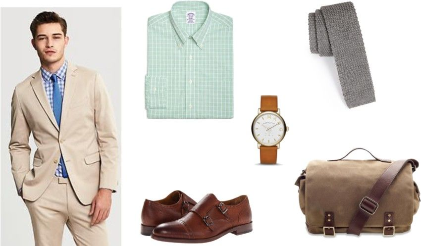 Outfit Ufficio Uomo : Outfit of the day beat the heat with khaki suit