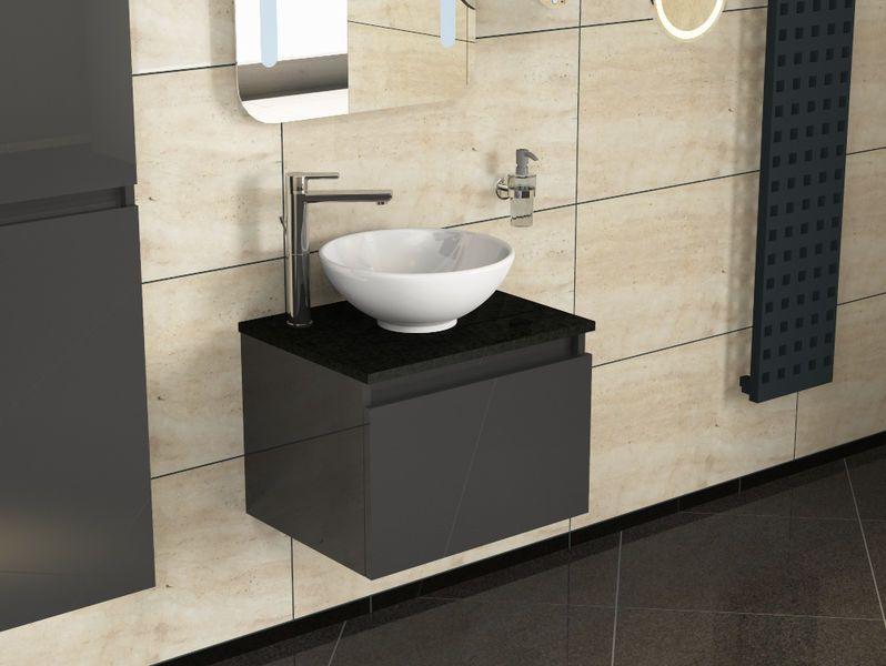 Badmobel Mit Granit Waschtischplatte Und Keramikbecken Rund