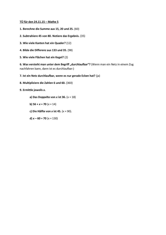 Tagliche Ubung Klasse 5 Tu 5 Klasse Inkl Losung Unterrichtsmaterial Im Fach Mathematik In 2020 Tagliche Ubung Ubung Erste Klasse