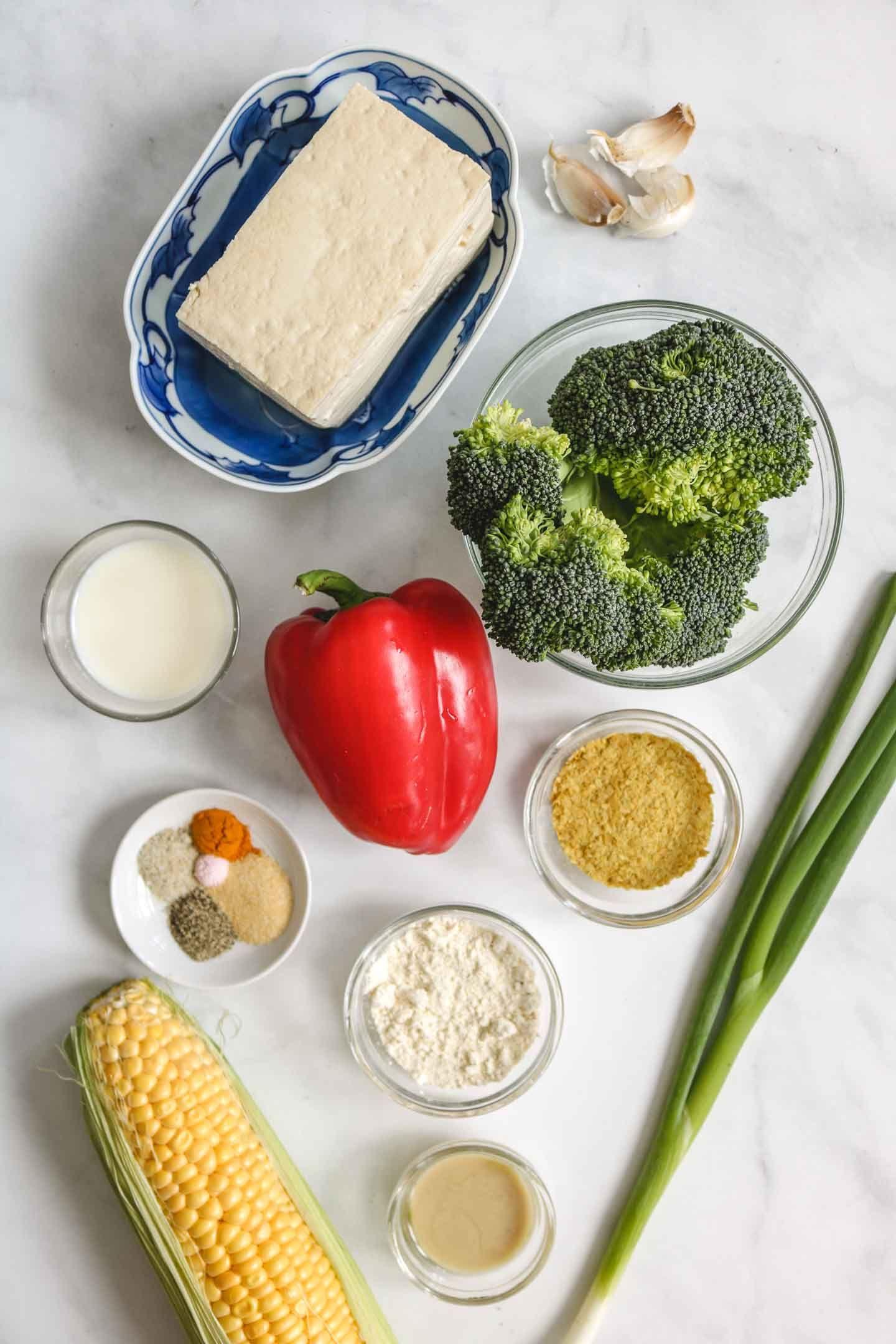 Vegan Egg Muffins (High Protein & Gluten-free) - Okonomi Kitchen #eggmuffins