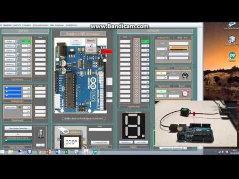 Turn a real led on with the Arduino Simulator 1 4 - YouTube