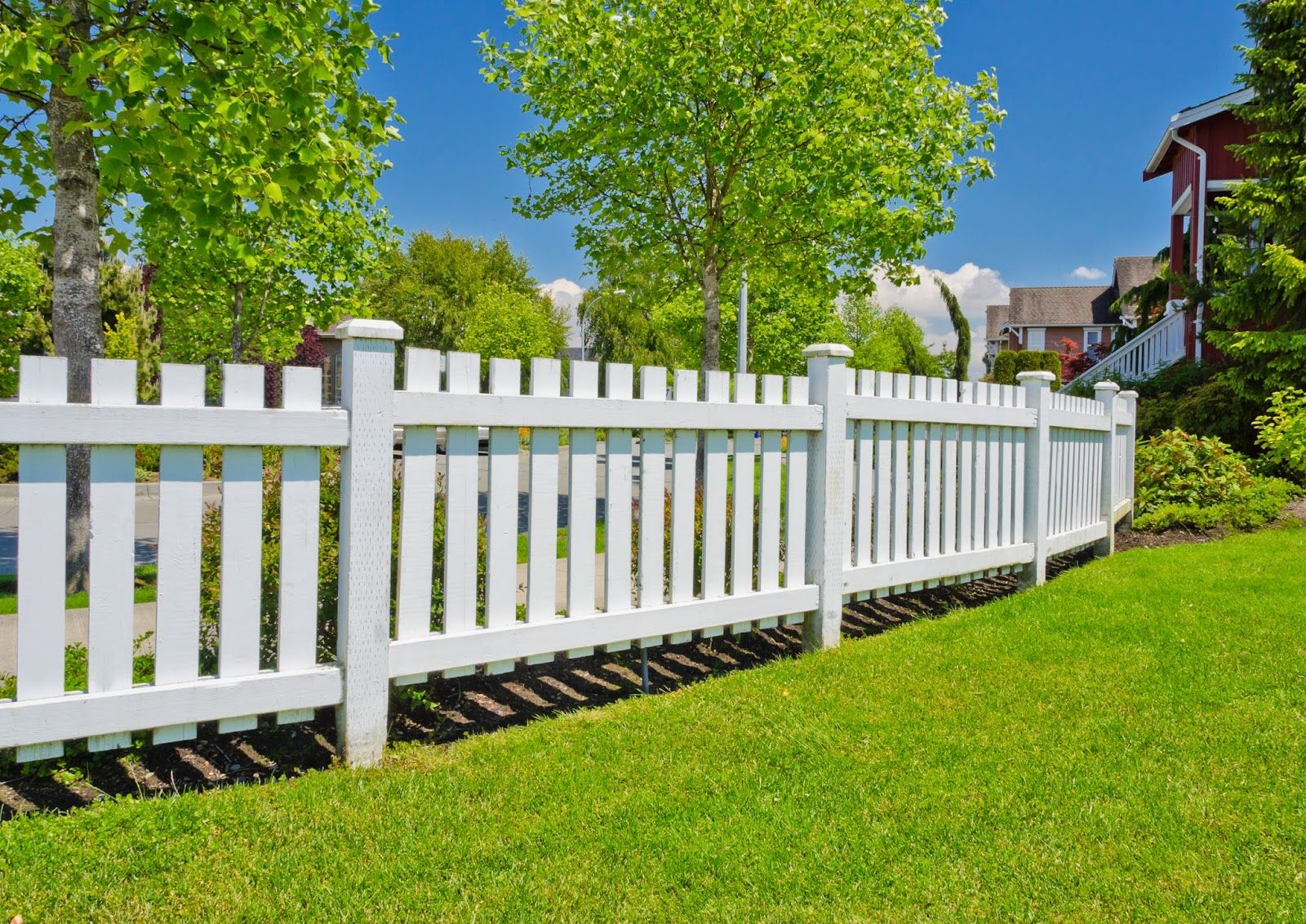 white fence post. Post And Rail Fence : Fence- Ferment Attractive, Long Last. White