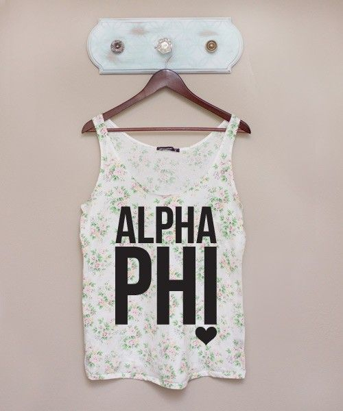 I love this! It's so different from most sorority tanks you usually see