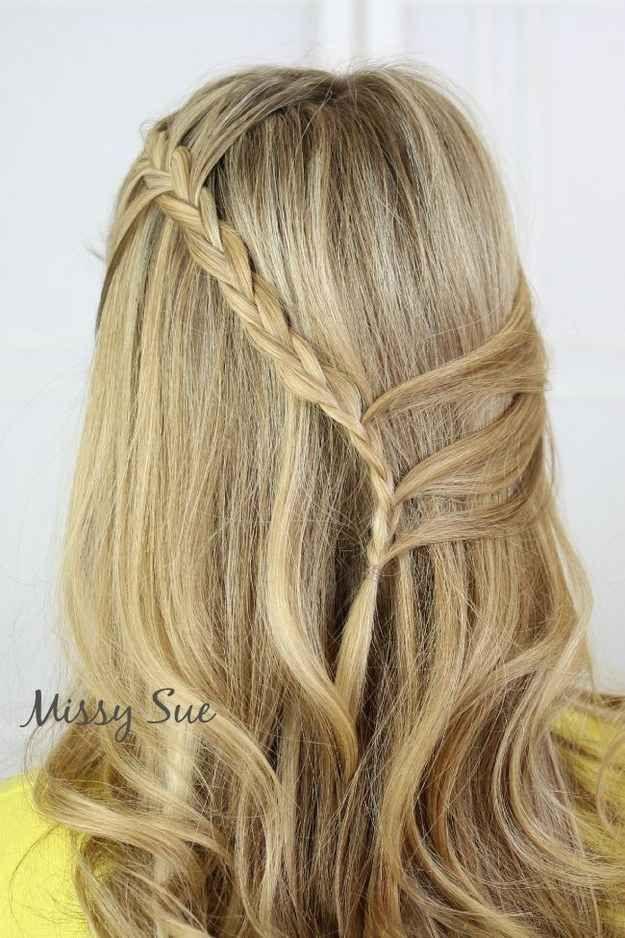 La tresse en cascade coiffures Coiffure cheveux long