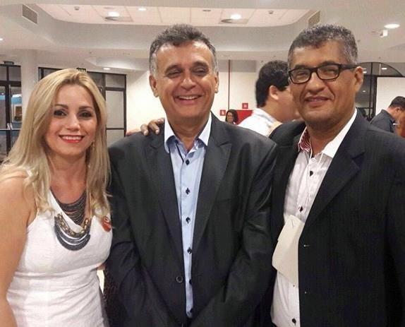 Alexsandra Vertuani, Audifax Barcelos e Ronaldo Freire Andrade em 19/04/2016