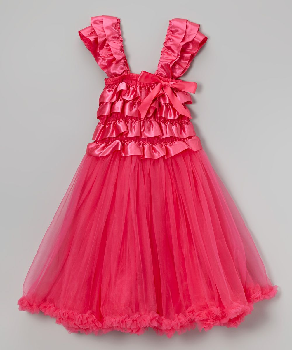 Hot pink ruffle top dress infant toddler u girls products