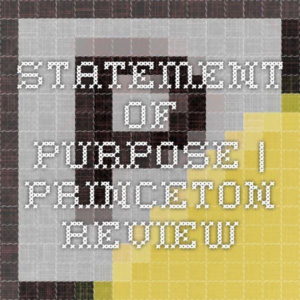 Personal statement princeton review
