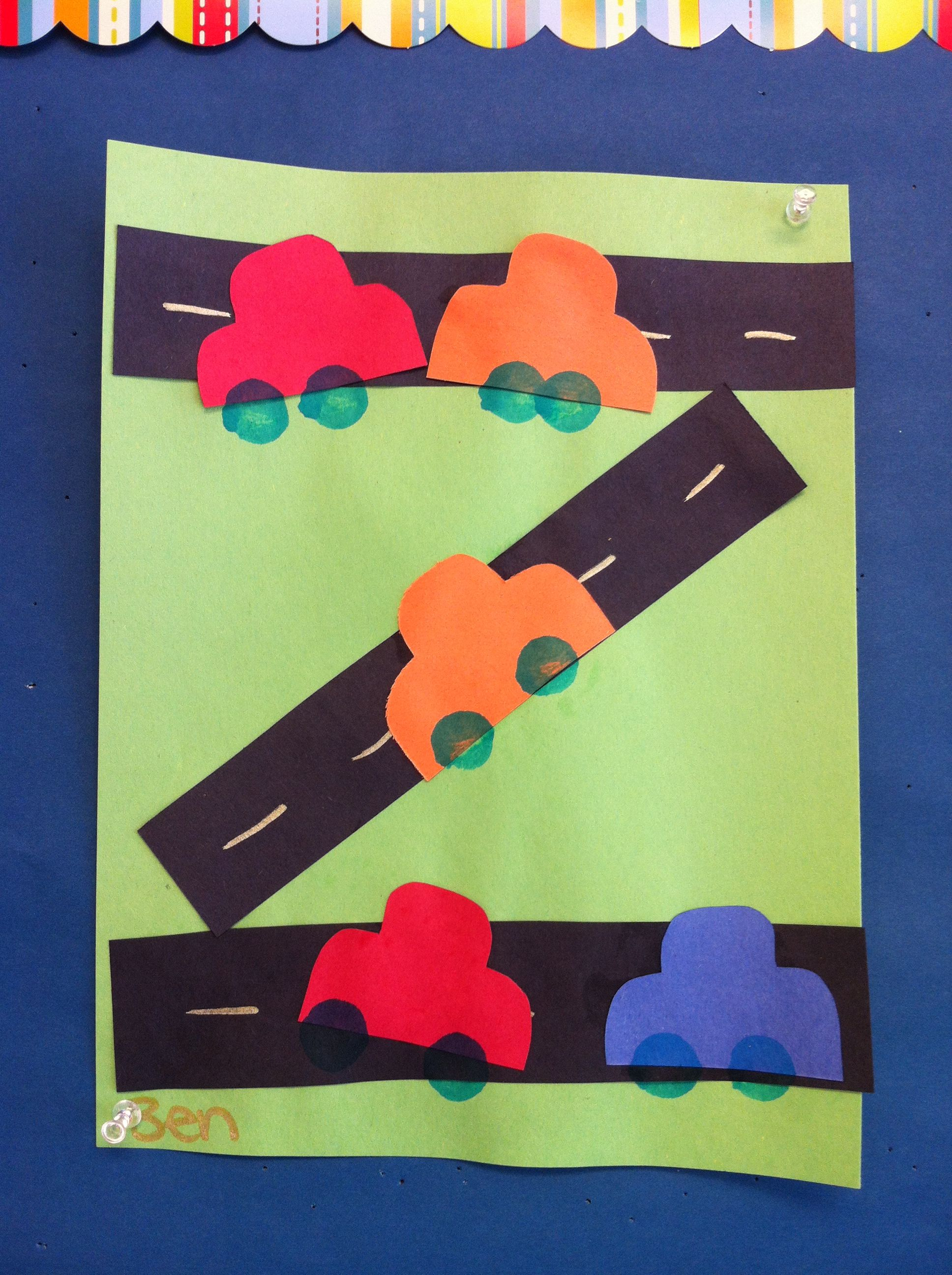 Preschool Road Car Craft Arts And Crafts Pinterest